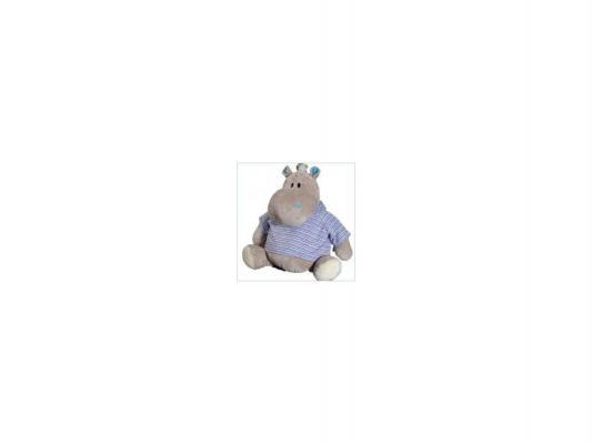 Мягкая игрушка бегемотик ОРАНЖ Жорик плюш синтепон серый 30 см МС1983/30