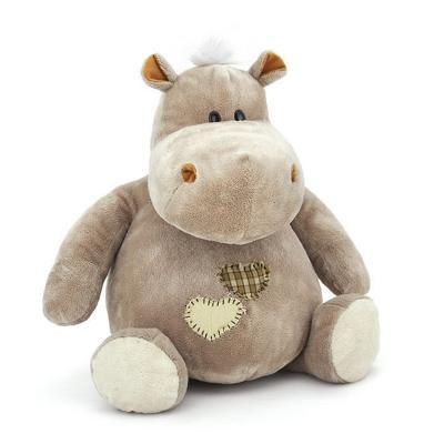 Мягкая игрушка бегемотик Orange МС1444/30 текстиль серый 30 см 6938802775168