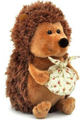 Мягкая игрушка ежик ОРАНЖ Колюнчик с узелочком искусственный мех коричневый 20 см OS065/20В