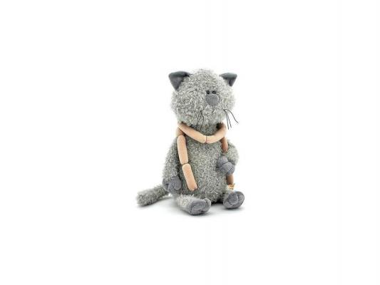 Мягкая игрушка кот ОРАНЖ Кот Обормот с сосисками текстиль серый 30 см OS069/30