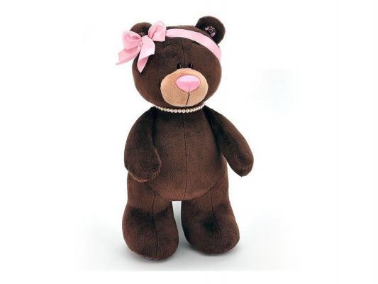 Мягкая игрушка медведь ОРАНЖ Медведь девочка Choco&Milk стоячая плюш синтепон коричневый 50 см М002/50