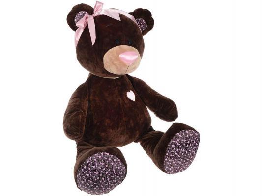 где купить Мягкая игрушка медведь ОРАНЖ Медведь девочка Choco&Milk сидячая плюш синтепон коричневый 50 см М004/50 по лучшей цене