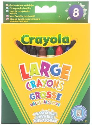 Восковые мелки Crayola 0878 8 штук 8 цветов от 1 года 878