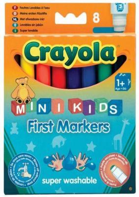 Фломастеры 8 цветных смывающихся для малышей Crayola Crayola 8324