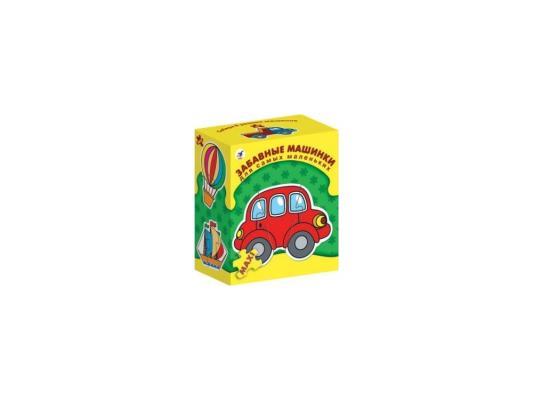 Купить Пазл ДРОФА для самых маленьких Забавные машинки 3 элемента 1089, Пазлы для малышей