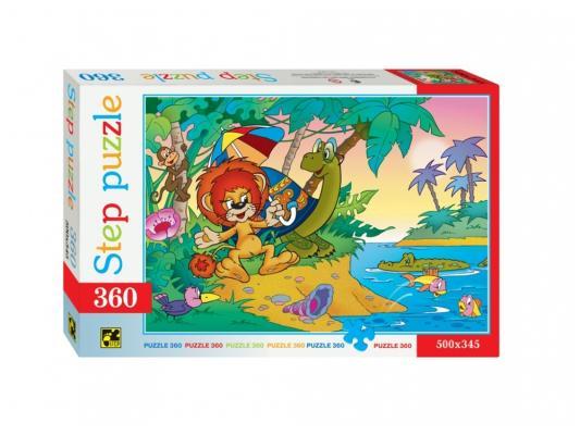 Пазл Step Puzzle Львенок и черепаха 360 элементов 73006 пазл step puzzle подводный мир 360 элементов 73061