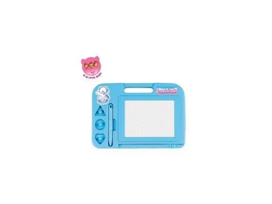 Купить Доска для рисования Shantou Gepai Мишка цветная 63459, голубой, Мольберты и доски для детей