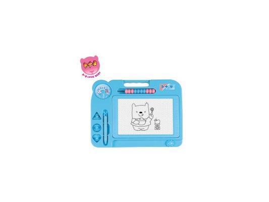 Доска для рисования Shantou Gepai Мишка, цветная, счеты, штампики 63754 в ассортименте доски и мольберты shantou gepai доска для рисования мишка