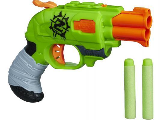 Бластер Hasbro Nerf Зомби Страйк Двойной Удар зеленый A6562