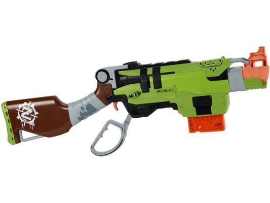 Бластер Hasbro Nerf Зомби Страйк Слингфайр зеленый A6563 оружие игрушечное hasbro hasbro детский бластер nerf зомби страйк переворот