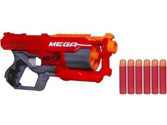 Бластер Hasbro Nerf Мега Циклон-шок красный A9353 оружие игрушечное hasbro hasbro детский бластер nerf зомби страйк переворот