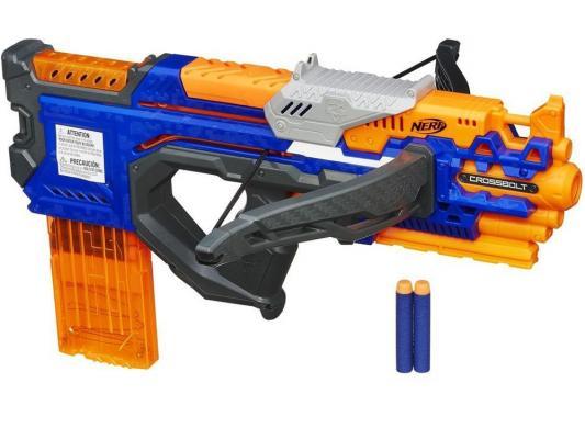 Бластер Hasbro Nerf Элит Кросс Болт синий A9317 игрушечное оружие hasbro nerf a9317 бластер элит кроссболт