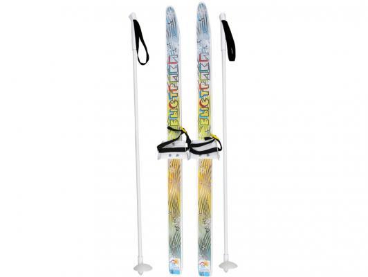 Лыжи детские Быстрики с палками 90 см Дартс-Ковров ЛыжБ  6538 цикл лыжи детские быстрики цикл