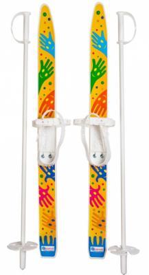 Лыжи детские Лыжики пыжики с палками 75 см  66521 цикл лыжи детские лыжики пыжики в сетке цикл
