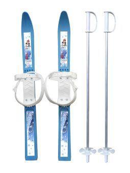 Лыжи детские Олимпик- спорт с палками,пластиковые, Дартс-Ковров ЛыжО 36086