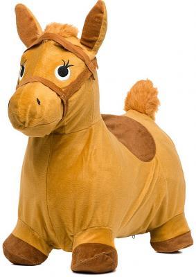 Купить Каталка Наша Игрушка Лошадка-попрыгунчик бежевый от 1 года резина 63801, унисекс, Мячи и животные прыгуны