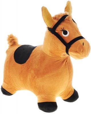 Каталка Наша Игрушка Лошадка-попрыгунчик коричневый от 1 года плюш 63800