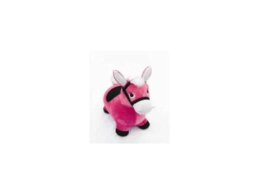 Каталка Наша Игрушка Лошадка-попрыгунчик розовый от 1 года плюш 63798