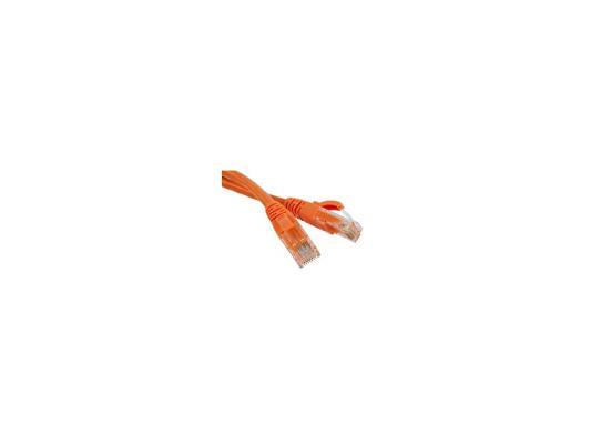 Патч-корд UTP 5E категории 1м Hyperline PC-LPM-UTP-RJ45-RJ45-C5e-1M-LSZH-OR оранжевый