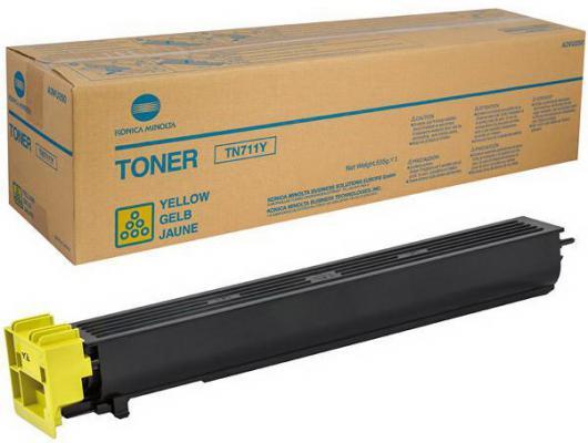 Фото - Тонер Konica Minolta TN-711Y для bizhab C654/C754 желтый тонер konica minolta bizhub c350 351 450 желтый tn 310y o