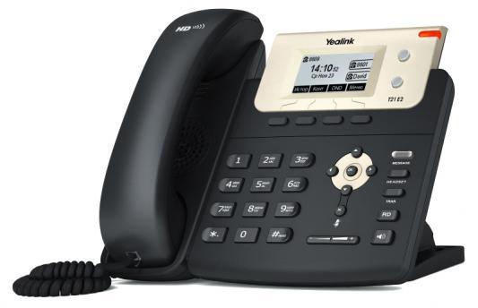"Телефон IP Yealink SIP-T21 E2 2 SIP-аккаунта 2x10/100Mbps 2.3"" LCD BLF телефон ip yealink sip t19p e2 1 sip аккаунт 2x10 100mbps 2 3"
