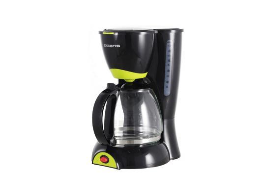 Кофеварка Polaris PCM 1211 капельная 800Вт 1.25л черно-салатовый кофеварка polaris pcm 0210 450 вт черный