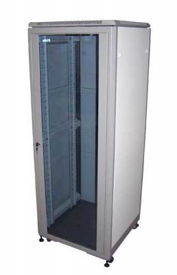 Шкаф напольный 42U Lanmaster TWT-CBE-42U-6X8 600x800mm дверь стекло серый