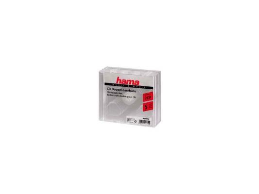 Коробка HAMA для 2 CD прозрачный 5шт H-44752 коробка hama для 2 cd прозрачный 5шт h 44752