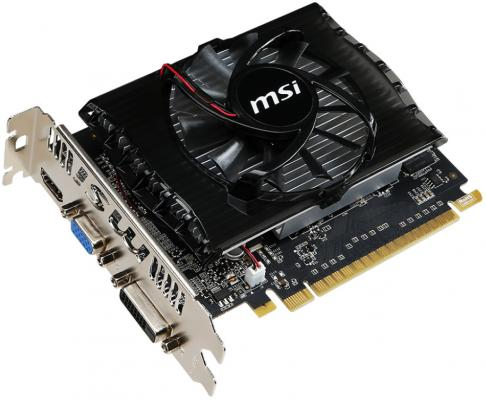 Видеокарта 2048Mb MSI GeForce GT730 PCI-E GDDR3 128bit DVI HDMI CRT HDCP N730-2GD3V2 Retail
