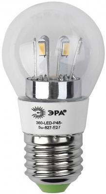 Лампа светодиодная груша Эра 360-LED P45-5w-827-E27 E27 5W цены