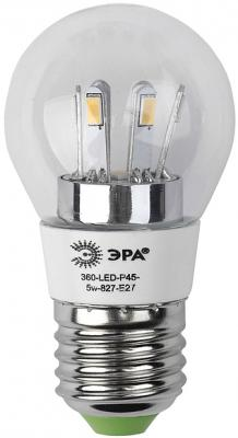 Лампа светодиодная груша Эра 360-LED P45-5w-827-E27 E27 5W