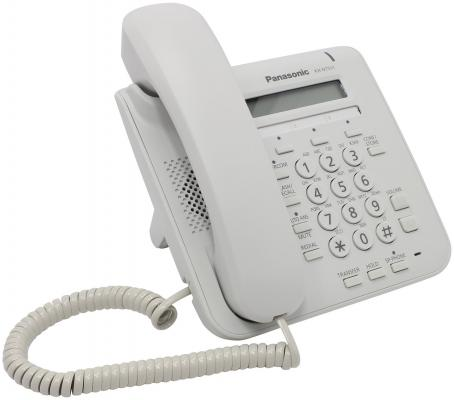 Телефон IP Panasonic KX-NT511ARUW белый телефон ip panasonic kx nt556rub черный