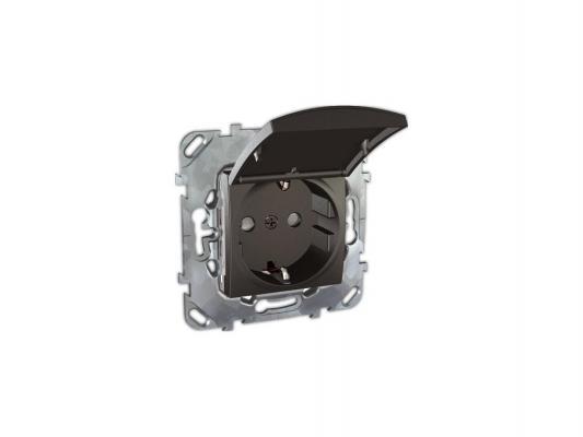 Розетка Schneider Electric со шторками черный MGU5.037.12TAZD