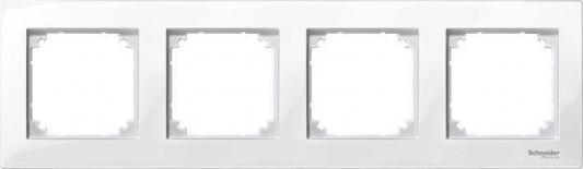 Рамка 4 пост белый Schneider Electric MTN515419