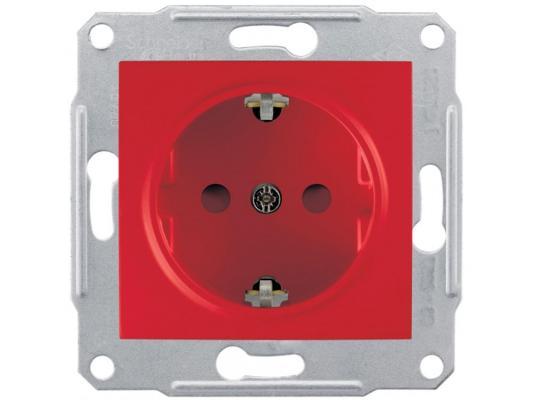 Розетка Schneider Electric со шторками красный SDN3000341
