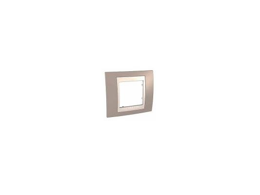 Рамка 1 пост коричневый/бежевый Schneider Electric MGU6.002.574 рамка 3 пост бежевый schneider electric artec mtn481344