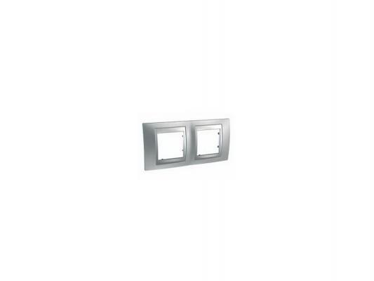Рамка 2 пост хром матовый/алюминий Schneider Electric MGU66.004.038