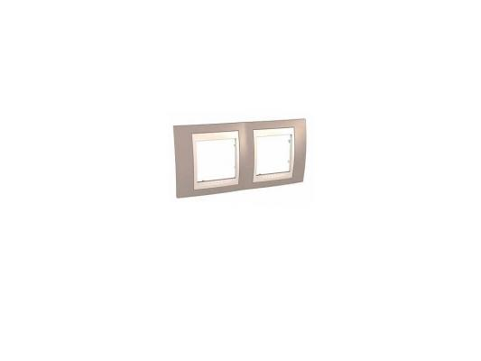 Рамка 2 пост коричневый/бежевый Schneider Electric MGU6.004.574