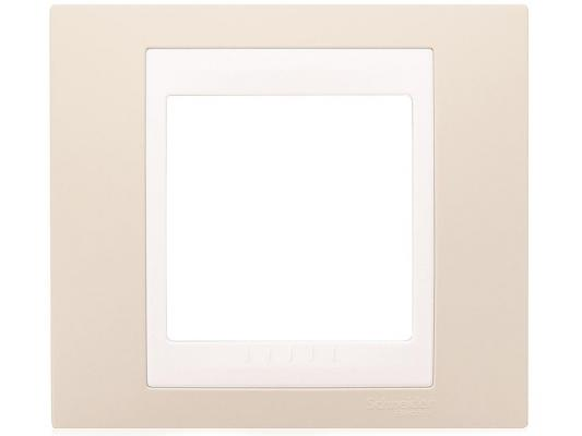 Рамка 1 пост песчаный/белый Schneider Electric MGU6.002.867 рамка 3 пост белый schneider electric m smart mtn478319