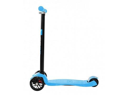 Самокат Y-SCOO Maxi Shine A20 голубой 4895