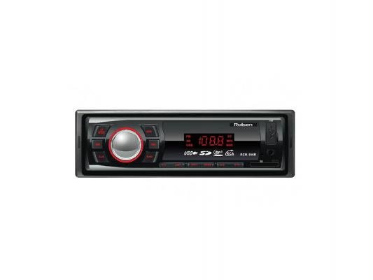 Автомагнитола Rolsen RCR-106R бездисковая USB MP3 FM SD MMC 1DIN 4x45Вт черный