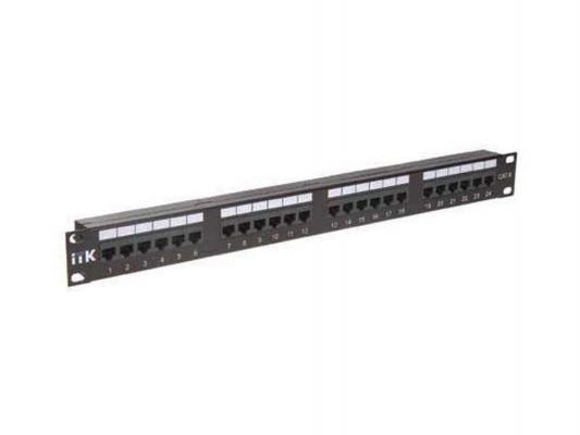 Патч-панель ITK PP24-1UC6U-D05 24 порта кат.6 UTP патч панель itk pp24 1uc5es d05 1u 24 порта кат 5е stp idc dual