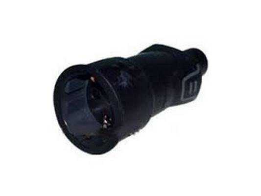 Розетка Legrand 2К+З черный 50197