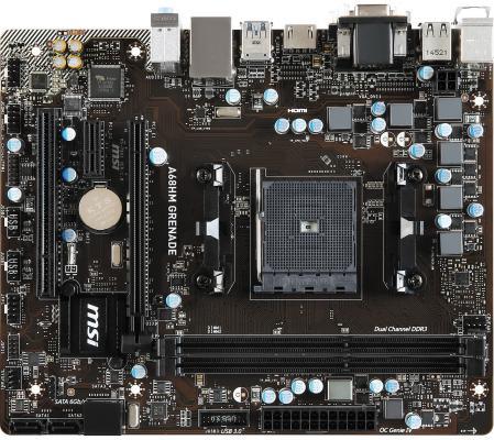 Материнская плата для ПК MSI A68HM GRENADE Socket FM2+ AMD A68H 2xDDR3 1xPCI-E 16x 1xPCI 1xPCI-E 1x 4xSATAIII mATX Retail