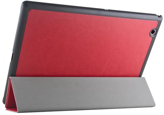 """купить Чехол IT BAGGAGE для планшета SONY Xperia TM Tablet Z4 10"""" ультратонкий hard-case искус. кожа красный ITSYZ4-3 недорого"""