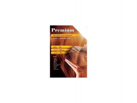 Обложки Office Kit СBRA400230 А4 230г/м2 под кожу коричневый 100шт