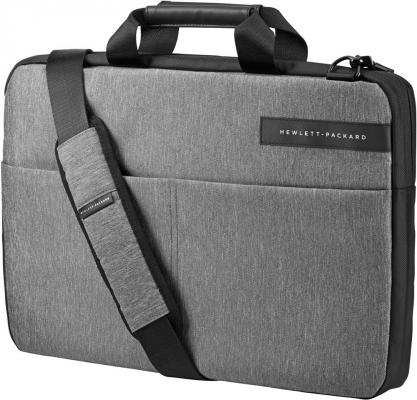 """Сумка для ноутбука 15.6"""" HP Signature Slim Topload синтетика черно-серый L6V68AA"""