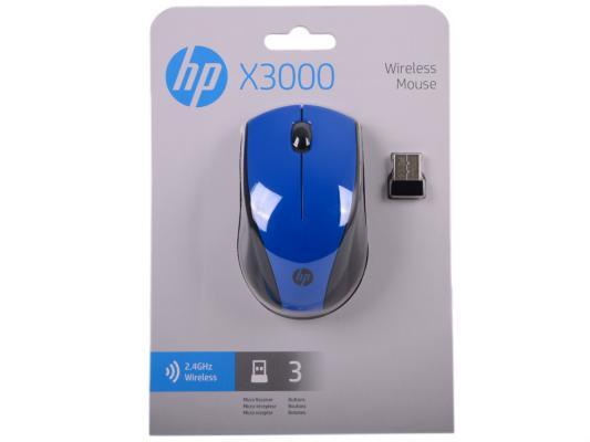 Мышь беспроводная HP N4G63AA чёрный USB мышь беспроводная hp x3000 чёрный usb