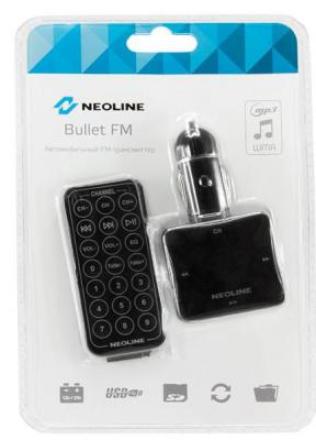 FM трансмиттер Neoline Bullet FM microSD USB пульт ДУ черный