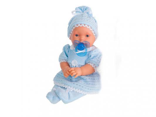 Кукла Munecas Antonio Juan Лана в голубом 27 см плачущая 1109В